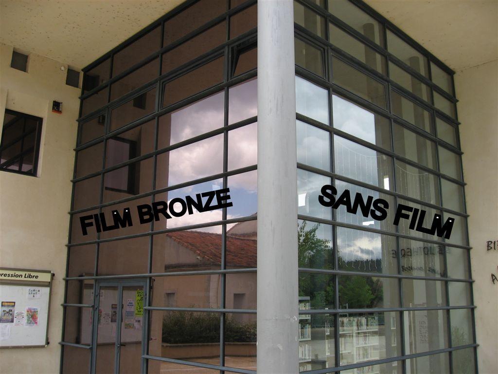 Film miroir et intimite toulon vitrage teintee marseille for Miroir store